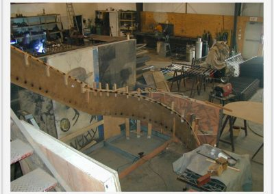 The Main Staircase: Shop Fabrication 1